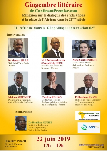 Mactar Silla, Label TV, Gabon, Nations Unies, Anne Cecile Robert, Caroline Roussy, Hamidou Kasse, Makane Mbengue