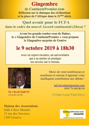 FCFA, ZLECA, CNUCED, ONU, AFRIQUE, FRANCE, AOF, COLONIES, DECOLONISATION, CHERIF SALIF SY
